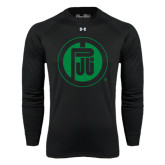 Under Armour Black Long Sleeve Tech Tee-Primary Mark