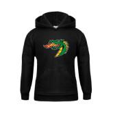 Youth Black Fleece Hoodie-Dragon Head