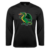 Syntrel Performance Black Longsleeve Shirt-Secondary Mark
