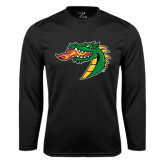 Syntrel Performance Black Longsleeve Shirt-Dragon Head