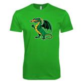Next Level SoftStyle Kelly Green T Shirt-Secondary Mark