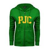 ENZA Ladies Kelly Green Fleece Full Zip Hoodie-PJC