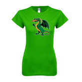 Next Level Ladies SoftStyle Junior Fitted Kelly Green Tee-Secondary Mark