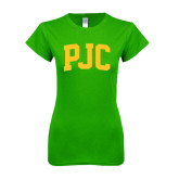 Next Level Ladies SoftStyle Junior Fitted Kelly Green Tee-PJC