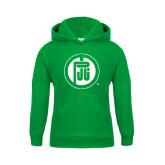 Youth Kelly Green Fleece Hood-Primary Mark