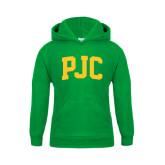Youth Kelly Green Fleece Hood-PJC