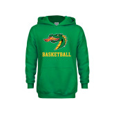 Youth Kelly Green Fleece Hood-Basketball