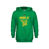 Youth Kelly Green Fleece Hoodie-Basketball Net