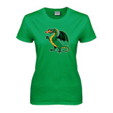 Ladies Kelly Green T Shirt-Secondary Mark