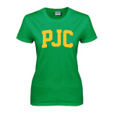 Ladies Kelly Green T Shirt-PJC