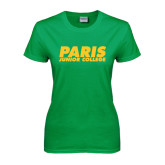 Ladies Kelly Green T Shirt-Paris Junior College