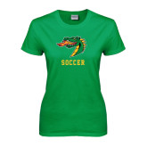Ladies Kelly Green T Shirt-Soccer