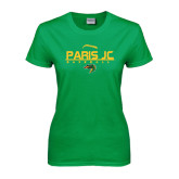 Ladies Kelly Green T Shirt-Baseball Laces on Top