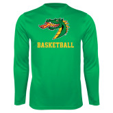 Performance Kelly Green Longsleeve Shirt-Basketball