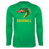 Performance Kelly Green Longsleeve Shirt-Baseball