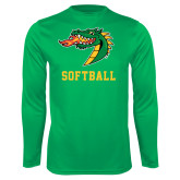 Syntrel Performance Kelly Green Longsleeve Shirt-Softball