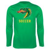 Performance Kelly Green Longsleeve Shirt-Soccer