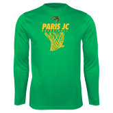 Performance Kelly Green Longsleeve Shirt-Basketball Net
