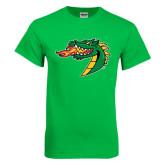 Kelly Green T Shirt-Dragon Head