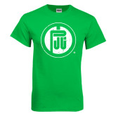 Kelly Green T Shirt-Primary Mark Distressed