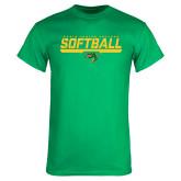 Kelly Green T Shirt-Softball Line