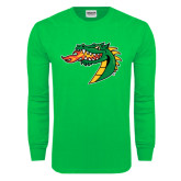 Kelly Green Long Sleeve T Shirt-Dragon Head
