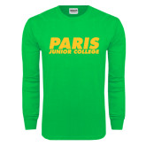 Kelly Green Long Sleeve T Shirt-Paris Junior College