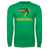 Kelly Green Long Sleeve T Shirt-Basketball