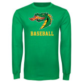 Kelly Green Long Sleeve T Shirt-Baseball