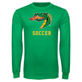 Kelly Green Long Sleeve T Shirt-Soccer