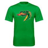 Syntrel Performance Kelly Green Tee-Dragon Head