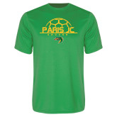 Performance Kelly Green Tee-Soccer Ball on Top