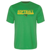 Performance Kelly Green Tee-Softball Line