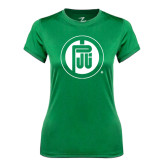 Ladies Syntrel Performance Kelly Green Tee-Primary Mark