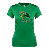Ladies Syntrel Performance Kelly Green Tee-Secondary Mark
