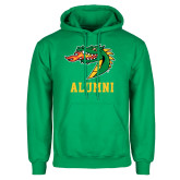 Kelly Green Fleece Hoodie-Alumni