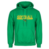 Kelly Green Fleece Hoodie-Softball Line