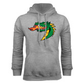 Grey Fleece Hoodie-Dragon Head