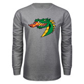 Grey Long Sleeve T Shirt-Dragon Head