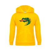 Youth Gold Fleece Hoodie-Dragon Head