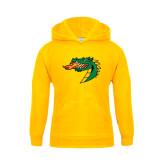 Youth Gold Fleece Hood-Dragon Head