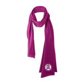 Bright Berry Cotton Blend Scarf-Primary Mark