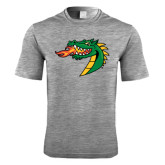 Performance Grey Heather Contender Tee-Dragon Head