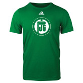 Adidas Kelly Green Logo T Shirt-Primary Mark