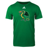 Adidas Kelly Green Logo T Shirt-Secondary Mark