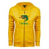 ENZA Ladies Gold Fleece Full Zip Hoodie-Softball