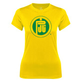 Ladies Syntrel Performance Gold Tee-Primary Mark