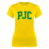 Ladies Syntrel Performance Gold Tee-PJC