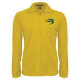 Fleece Full Zip Gold Jacket-Dragon Head