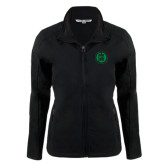 Ladies Black Softshell Jacket-Primary Mark